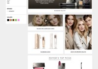 HARVEY NICHOLS MICRO SITE - BURBERRY BEAUTY 2011